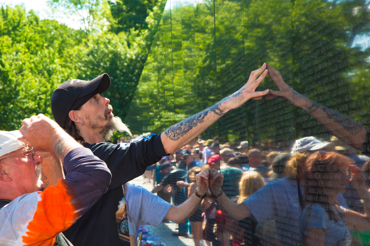 The Vietnam Veterans Memorial Wall, dedicated to honoring those who died in the Vietnam War is now also a place of healing for those affected by one of the most divisive wars in our nation's history.<br /> <br /> Rolling Thunder XXVII (2014) (5-25-14)