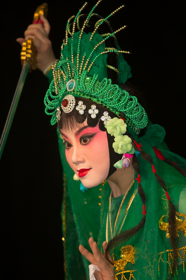 A dancer from the Zhejiang Wu Opera Troupe performs at the Smithsonian Folklife Festival on the National Mall in Washington, D.C. between June 25 and July 6. This year's event featured the cultural heritage of China and Kenya.