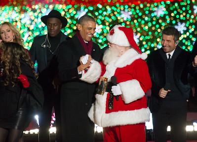 National Tree Lighting with President Obama - Dec. 4, 2014 President's Park