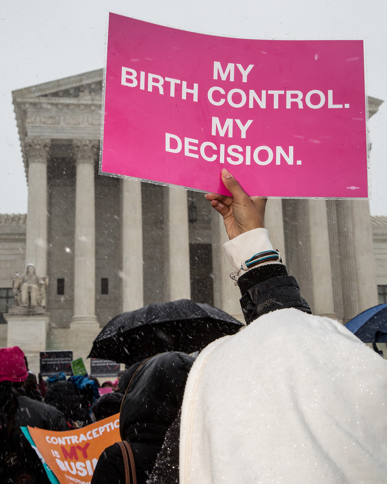 March 25, 2014 - The U.S. Supreme Court hears oral arguments in a legal challenge to mandated coverage of contraceptives under Obamacare brought by Hobby Lobby, whose Southern Baptist owners oppose some forms of birth control for religious reasons.