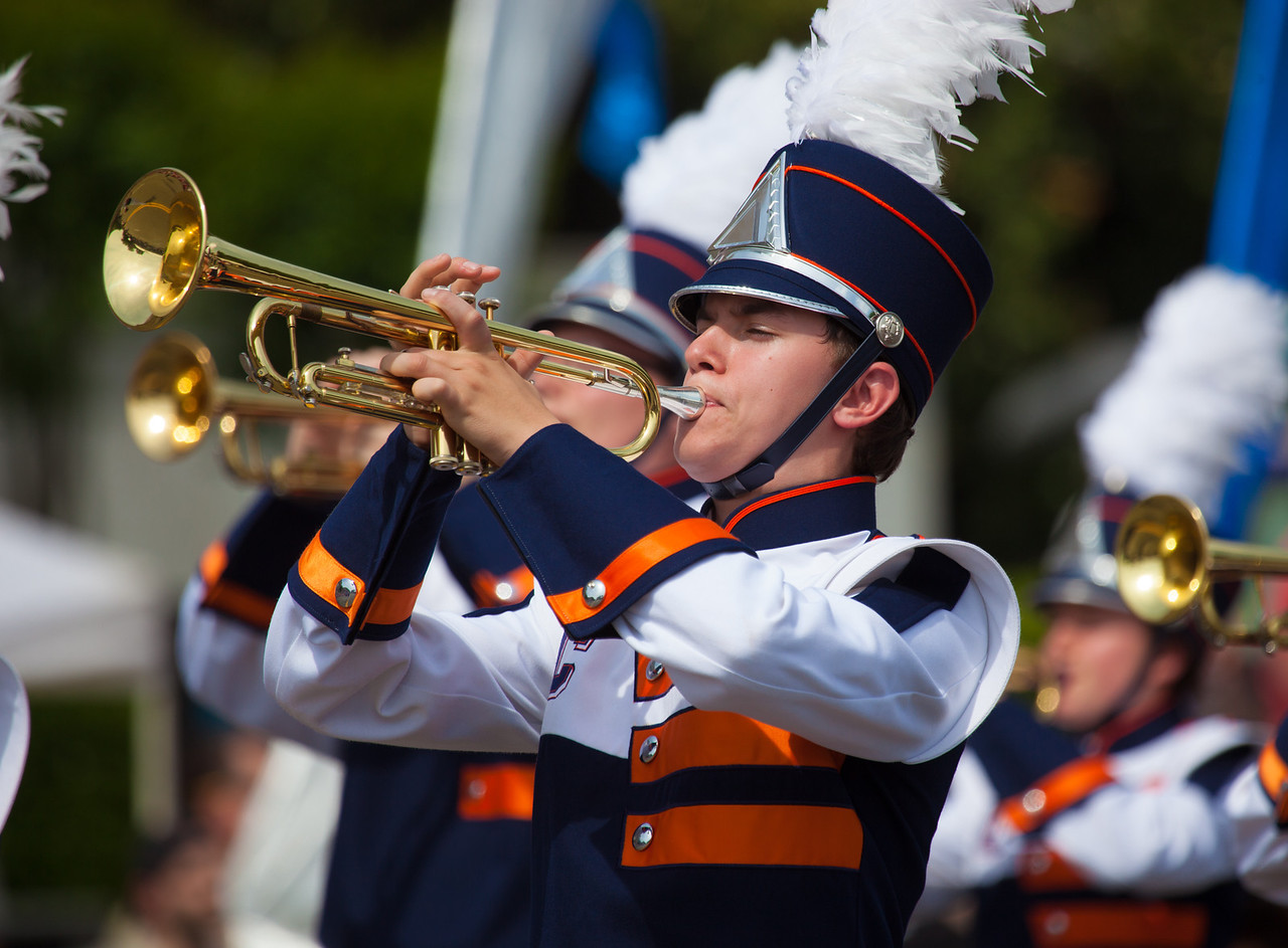 Jesse C. Carson H.S. Marching Cougar Band, China Grove, NC<br /> National Memorial Day Parade (2014)