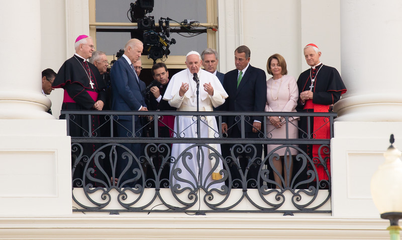 Following his address to the US Congress, Pope Francis stepped out to greet and bless the crowds gathered outside the Capitol Building on the National Mall on Sept. 24, 2015.