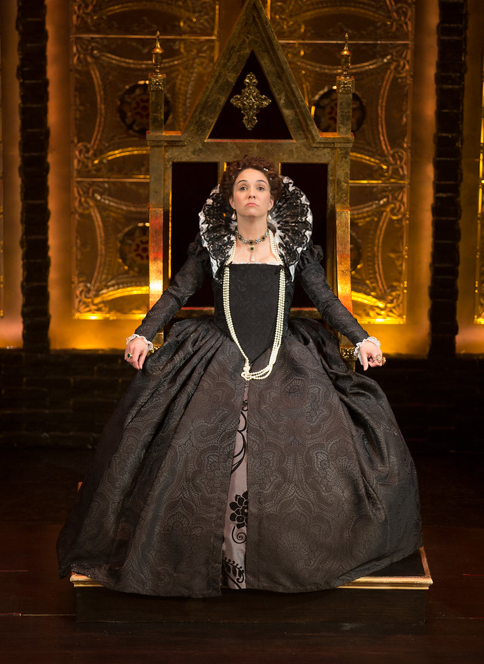 Holly Twyford as Queen Elizabeth I in the production of 'Mary Stuart'  on Jan. 25, 2015 at the Folger Shakespeare Theatre in Washington D.C.