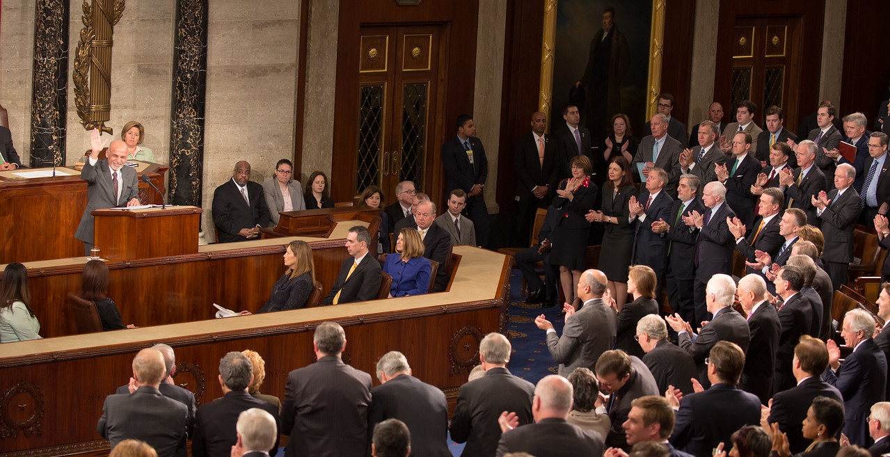 Afghan President Ashraf Ghani addressed a joint meeting of Congress on March 25, 2015.