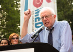 Presidential candidate Sen. Bernie Sanders (I-VT) was the featured speaker at a rally celebrating Medicare's 50th Anniversary at Upper Senate Park on Capitol Hill in Washington, D.C. on Thur ...