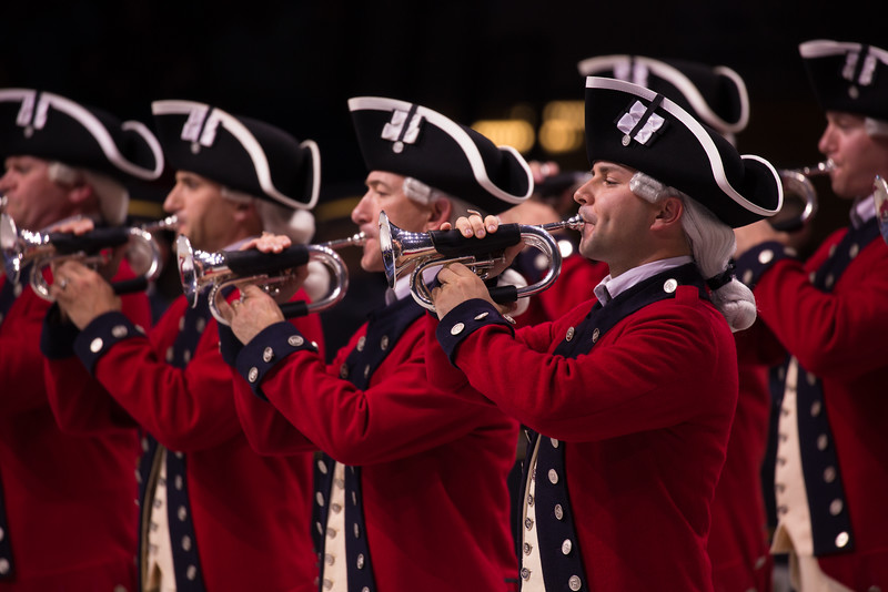 Spirit of America is a patriotic, live-action show presented by the U.S. Army. The U.S. Army Old Guard Fife and Drum Corps performs at the Armory in Washington D.C. on Sept. 11, 2015.
