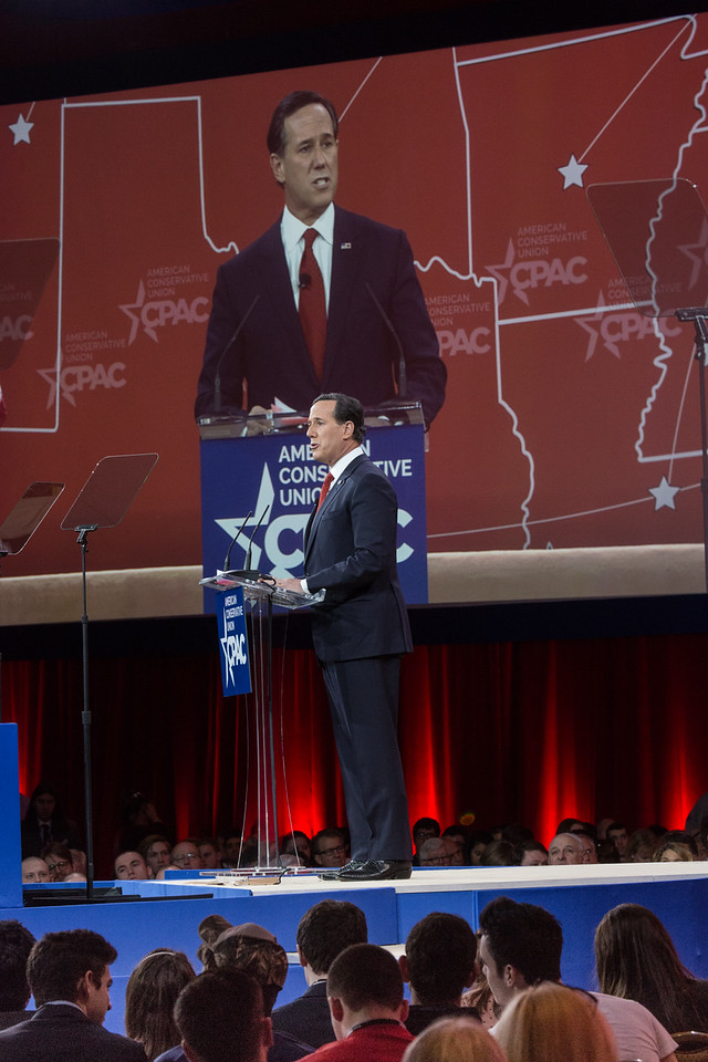 Rick Santorum speaks at the 2015 Conservative Political Action Conference (CPAC) at the Gaylord National Resort & Convention Center at National Harbor MD on February 26, 2015.
