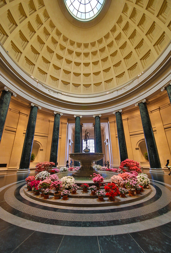 National Gallery of Art Rotunda (wide angle view) - March 6, 2015