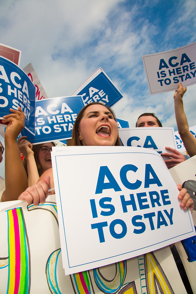 The U.S. Supreme Court Rules in Favor of Affordable Care Act again on June 25, 2015 in Washington D.C.