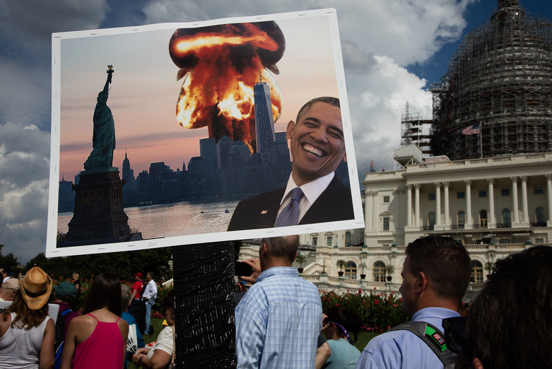 Tea Party inspired rally against the Iran Nuclear Deal on the U.S. Capitol West Lawn on Sept. 9, 2015 in Washington D.C.