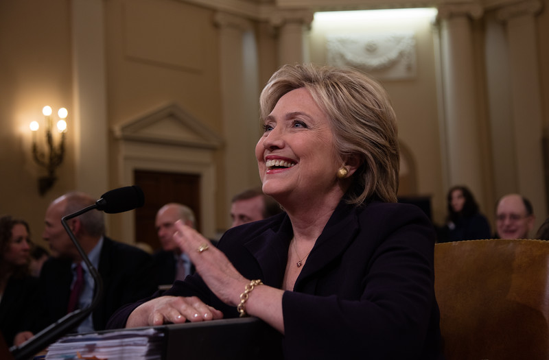 Former Secretary of State Hillary Clinton testified before the House Select Committee on Benghazi. The committee was formed to investigate the events surrounding the September 11, 2012, terrorist attack on the U.S. consulate in Benghazi, Libya, in which Ambassador Christopher Stevens and three others died. On October 22, 2015 on Capitol Hill.