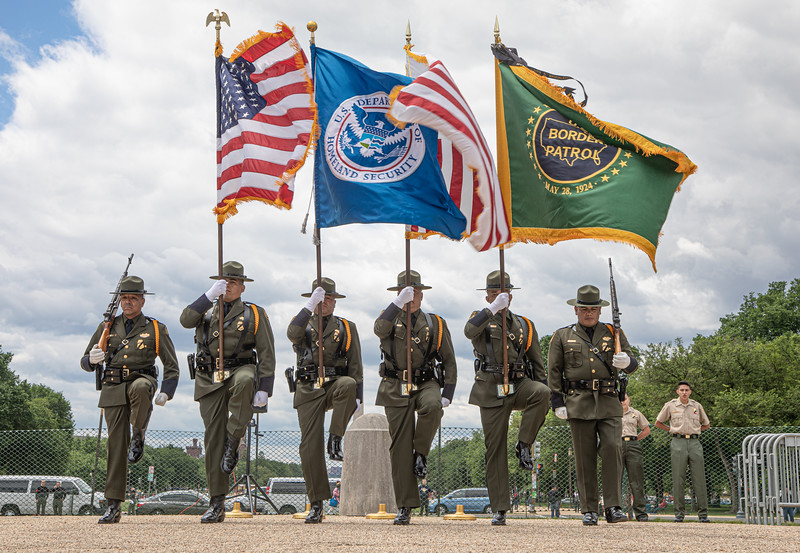 The U.S. Border Patrol took top honors in Police Week's National Honor Guard Competition near the Capitol on May 14, 2019. (photo by Jeff Malet)
