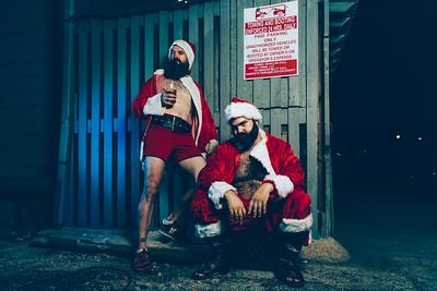 Portraits:  Bad Santa's