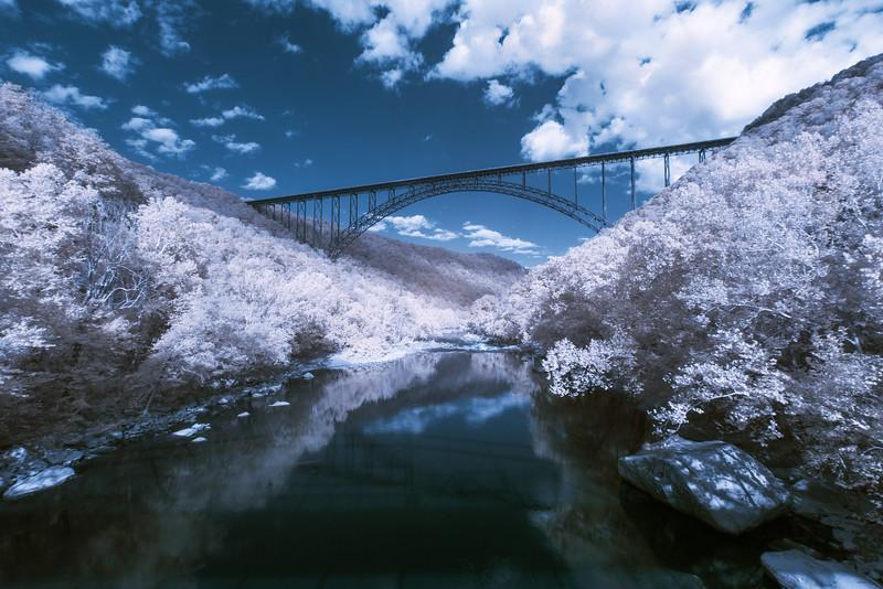 Infrared Landscapes: The New River Gorge Bridge