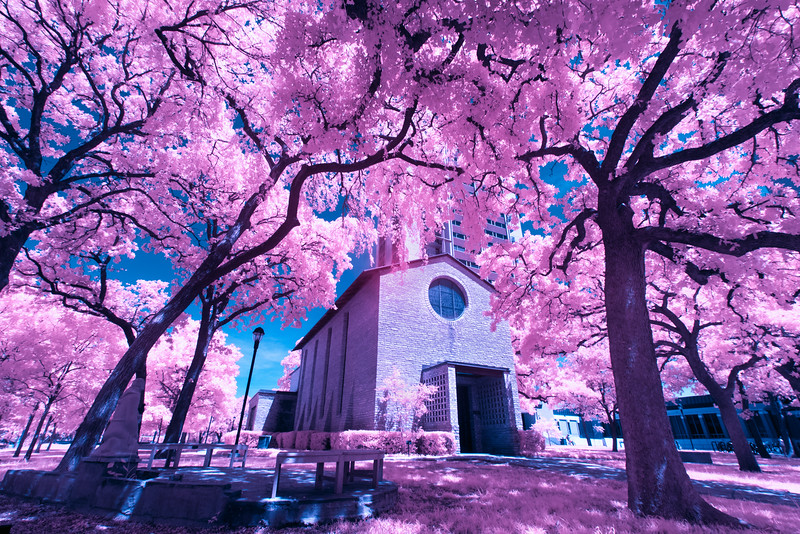 Infrared Landscapes:  The Little Chapel in the Woods