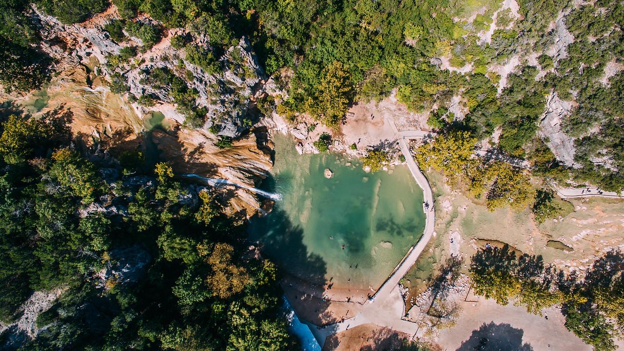 Aerials:  Turner Falls Oklahoma
