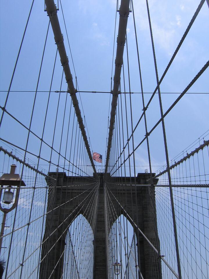 Brooklyn Bridge, Brooklyn, NY, USA - June 2008
