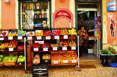Lisbon Alfama street market