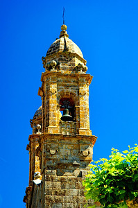 Church belltower, Vigo, Spain