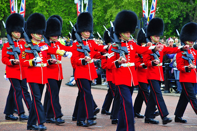 Changing of the Guard, exit march  London, England