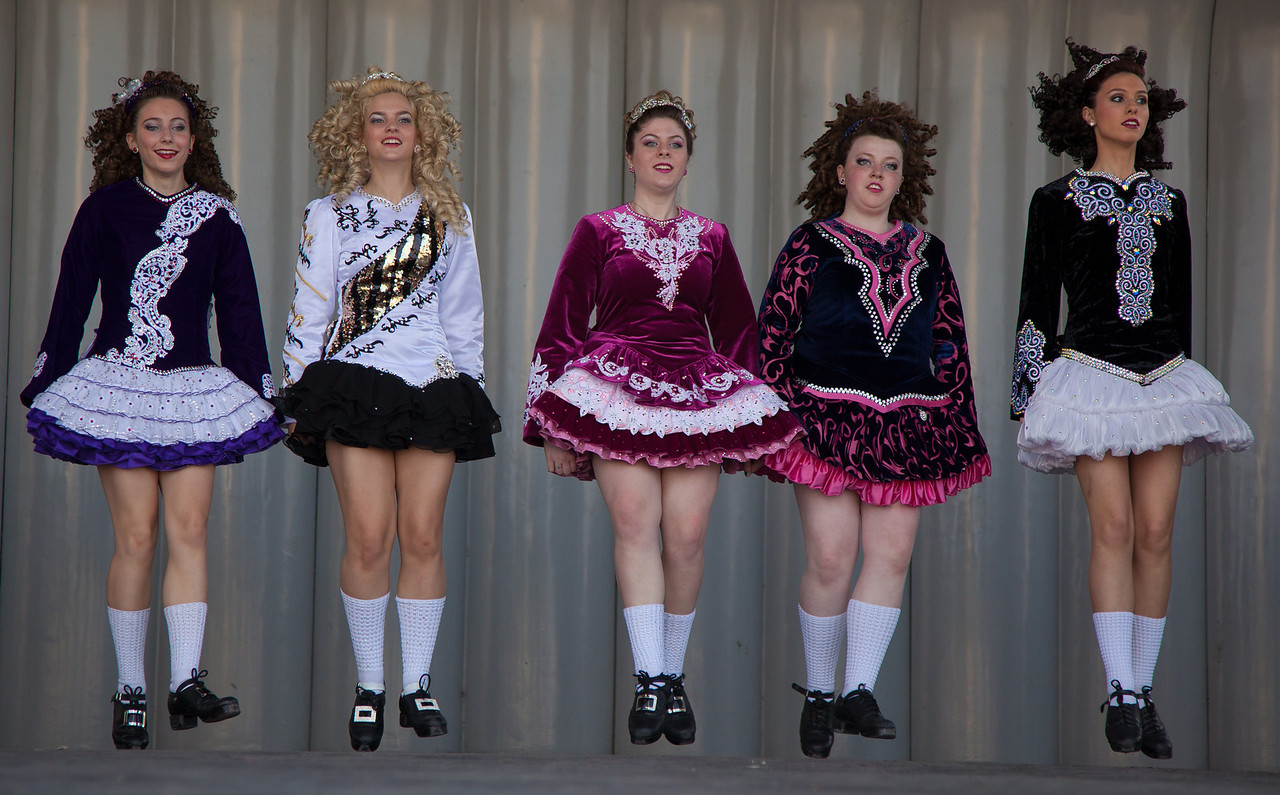 Students of the O'Neill-James School Of Irish Dancing perform on St. Patricks Day, March 17, 2012 at the Sylvan Stage near the Washington Monument.