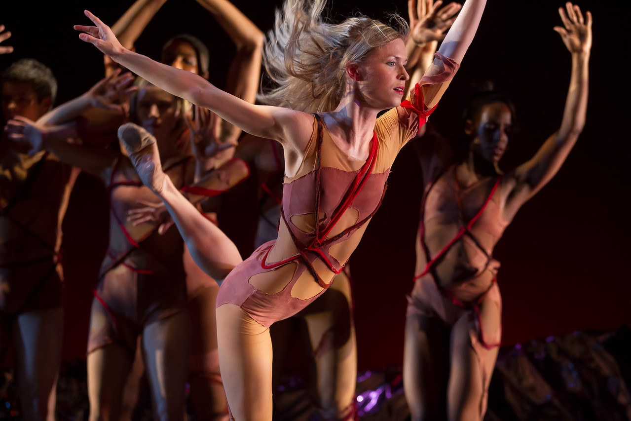 """Bowen McCauley Dance performed the ambitious """"Le Sacre du Printemps"""" (""""Rite of Spring"""") to glowing reviews on Thursday, March 1, 2012 at the Kennedy Center Terrace Theater. Alicia Curtis in photo."""