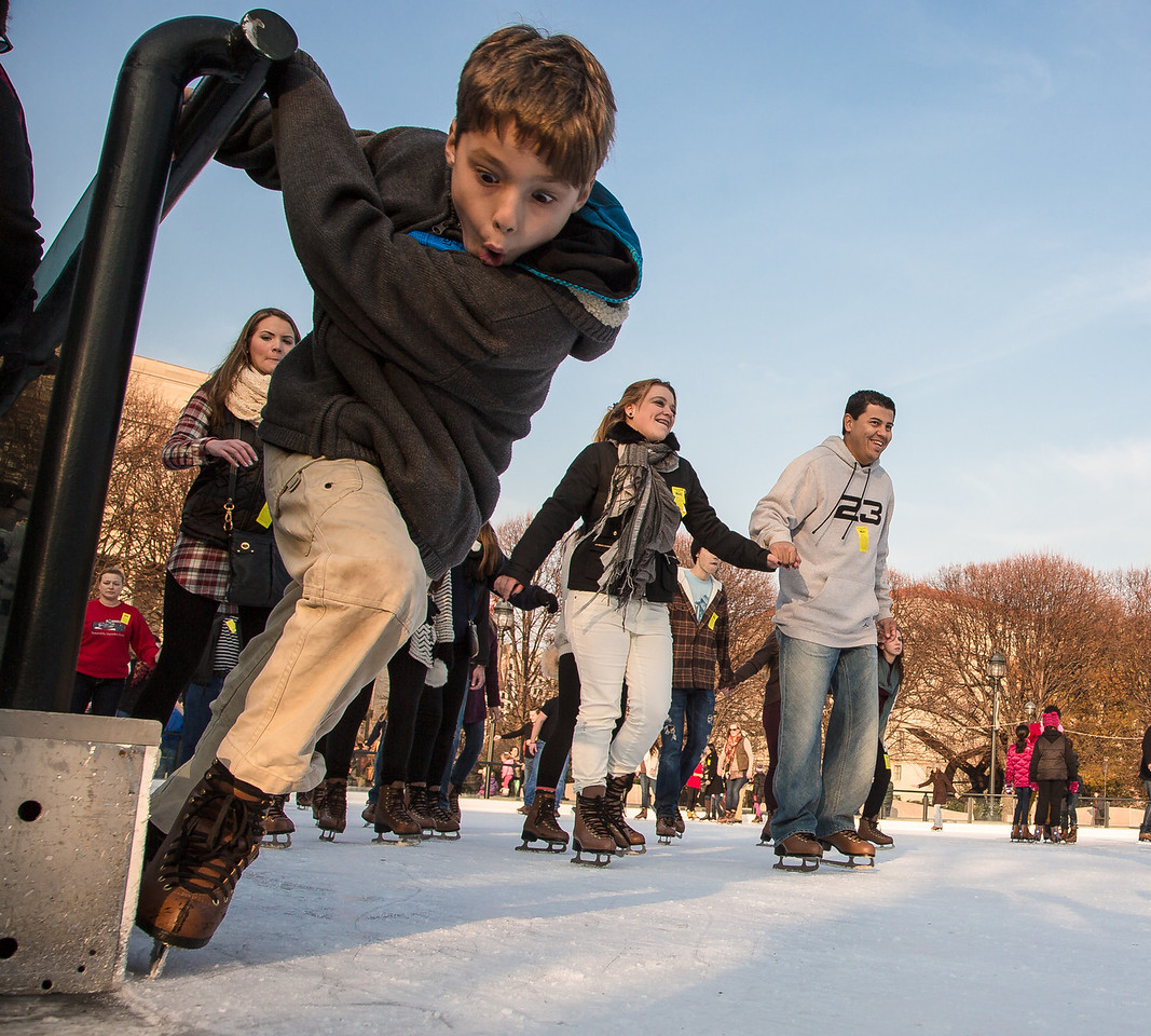 The popular National Gallery of Art Sculpture Garden Ice Rink will be open from 10 a.m. to 9 p.m. Monday-Thursday, 10 a.m. to 11 p.m. on Friday-Saturday, and 11 a.m. to 9 p.m. on Sundays. Skating lessons are available.