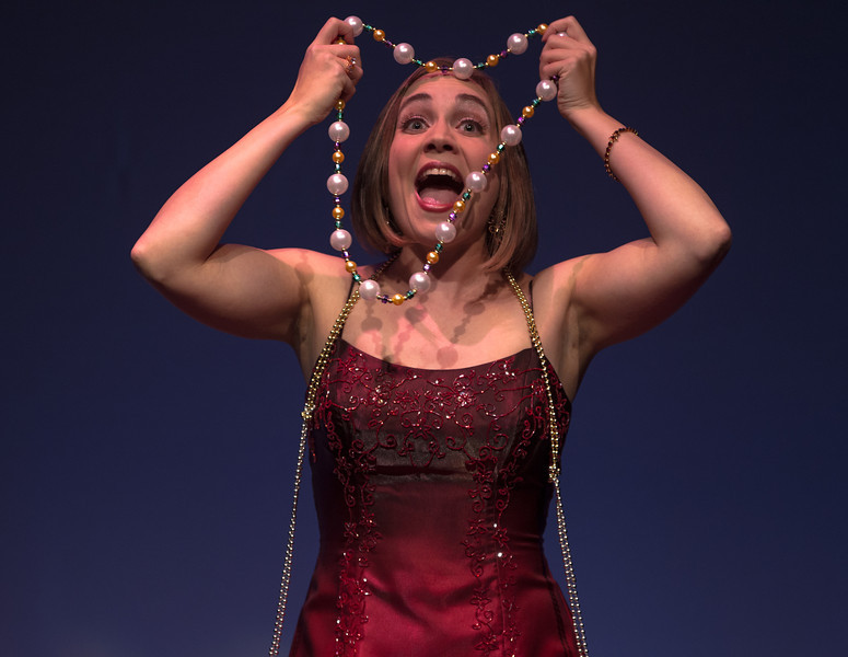 "Stacey Mastrian hits all the high notes in ""Glitter and Be Gay"", a selection from Leonard Berstein's Candide during a special performance celebrating the 40th Anniversary of The Washington Savoyards on February 10, 2012 at Atlas Performing Arts Center in Washington DC."