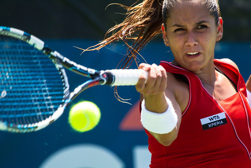 Gabriela Paz from Venezuela<br /> The Citi Open tennis tournament was held in the Rock Creek Park section of Washington, DC., from July 28 thru August 5, 2012 and included women participants for the first time. (7/28/12)