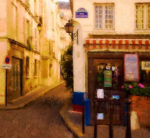 Cafe on the Rue des Ursins
