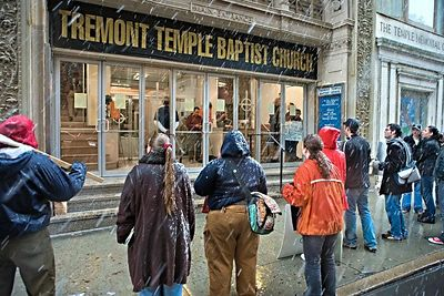 Saturday was very political in downtown Boston. Cindy Sheehan spoke in The Commons and James Dobson of Focus on the Family came to preach just a few blocks away at The Tremont Temple Baptist Church.