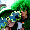 Luke Regnier, 8, and Beau Evens, 9, are all about St. Patrick's Day before the parade.<br /> The annual  Conor  O'Neill's St. Patrick's Day Parade was held downtown along 13th Street in Boulder. <br /> <br /> Cliff Grassmick / March 15, 2009