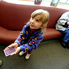 "Jady Laub, 3, shows her her mother her new library card she got at the Meadows Branch Library. Her grandmother Mary Ann Eckstein is in the background.<br /> The Meadows Branch of the Boulder Public Library system has been put on the chopping block of budget cuts. See more photos at  <a href=""http://www.dailycamera.com"">http://www.dailycamera.com</a>.<br /> Cliff Grassmick / March 6, 2009"