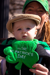 Liam (age 7 months) celebrating his first St. Patric's Day