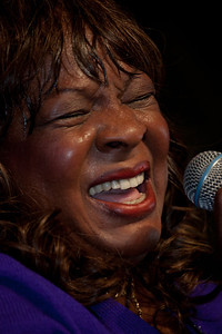 """Motown legend Martha Reeves performs at the Smithsonian Folklife Festival on July 1, 2011. Reeves was the lead singer of the Motown girl group Martha and the Vandellas. She performed """"Dancing in the Street"""" and many other hit songs."""