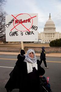 Protest against the regime of Hosni Mubarak. Feb 4, 2011.