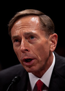 CIA Director, David Petraeus testified at a joint congressional intelligence committee hearing on Capitol Hill on September 13, 2011. On the job for only eight days, Mr. Petraeus has swapped his green uniform for business attire.