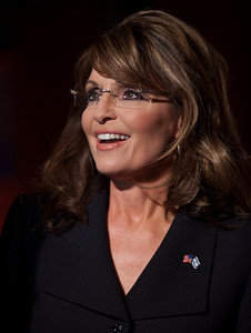 Sarah Palin makes an appearance at the MSNBC National Correspondents Dinner afterparty.