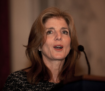 Caroline Kennedy was the featured speaker at the 50th anniversary of her father John F. Kennedy's inaugural address. The event was marked at the Capitol with speeches celebrating Kennedy's famous call on Americans to serve their country. Vice President Joe Biden, Speaker John Boehner (R-OH) and Senate Majority Leader Harry Reid (D-NV) were among the speakers at the ceremony in the Rotunda of the Capitol held a half-century after Kennedy's 1961 address. Many members of the extended Kennedy Family were in attendance. January 20, 2011 in Washington DC