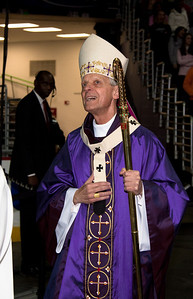 Cardinal Donald W. Wuerl, Archbishop of Washington DC presides over a mass for youth at Verizon Center  (1/24/11)
