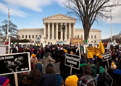 National Right to Life protest in front of the Supreme Court Building on Jan. 24, 2011.