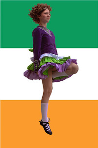 """Irish dancer Katherine Kodric (Kelly School of Irish Dance, Mississauga, Ontario, Canada, 12 years old) warms up for the 24th Annual Nation's Capital Feis & """"All-American Championships"""" held in Arlington on July 24."""