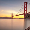 A calm San Francisco evening under the Golden Gate Bridge