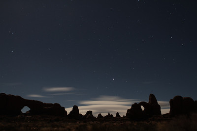 Night shots in Arches NP