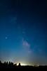 Milky Way over western South Dakota