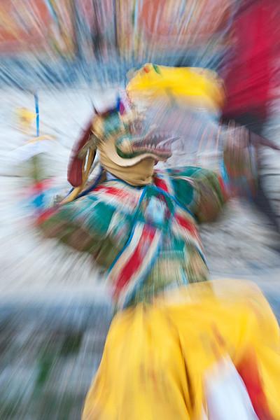 #Bhu 153 Dancer #5, Ura Yakchoe Festival, Bhutan