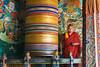 #Bhu 1156 Turning the Prayer Wheel, Trongsa Dzong, Bhutan