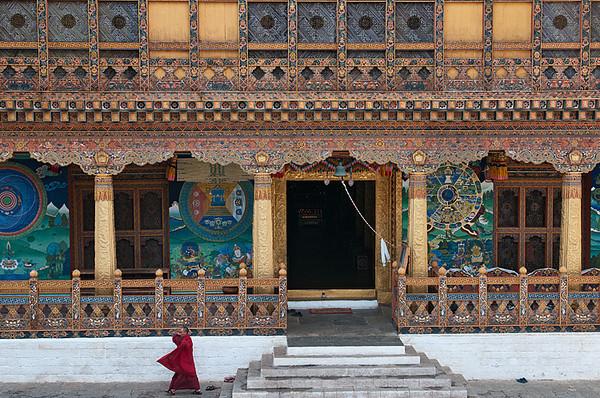#Bhu 057 Enterance to the Temple, Punakha Dzong, Bhutan