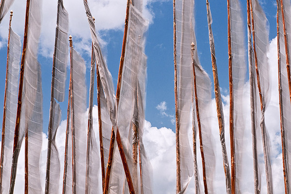 #Bhu 251 Prayer Flags, Domkhar Tshechu, Bhutan