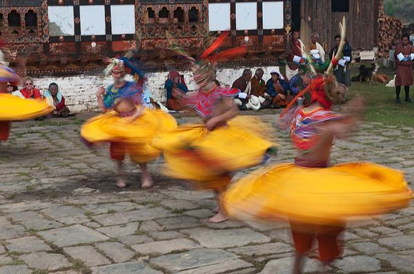 #Bhu 119 Twirling Dancers, Domkhar Tshechu Festival, Bhutan
